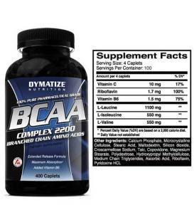 BCAA Complex 2200 400caps - Dymatize