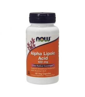 NOW Alpha Lipoic Acid - Алфа липоева киселина 100 mg x 60 tab.