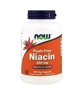 NOW Flush-Free Niacin | Витамин B3 250 mg / 180 tab.